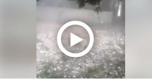 تساقط حبات كبيرة من البرد في لبنان.. فيديو