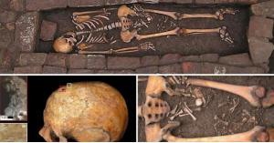الكشف عن بقايا امرأة أنجبت طفلاً في قبرها!