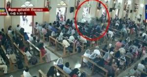بالفيديو.. لحظة دخول انتحاري سريلانكا إلى الكنيسة