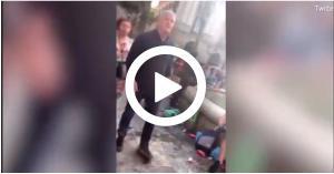 """""""معركة شوارع"""" بين جماهير ليفربول وبرشلونة.. فيديو"""