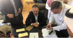 اصابة وزير الزراعة في الجفر