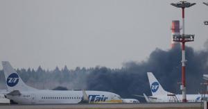 قتلى وجرحى بحريق طائرة ركاب في موسكو.. فيديو