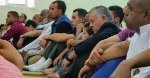 الملك يصلي الجمعة في بني كنانة
