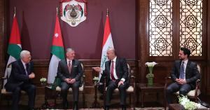اجتماع ثلاثي بين الملك والرئيس العراقي والرئيس الفلسطيني في عمان