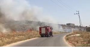 الدفاع المدني يخمد حريق جرش