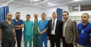 وزير الصحة يشارك الافطار مع موظفي مستشفى جرش (صور)