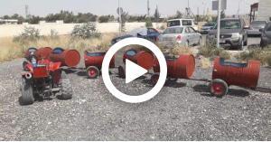 """""""قطار الرصيفة"""" في قبضة الامن (فيديو)"""