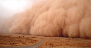 تحذير.. موجة غبار تتقدم نحو حدود العمري
