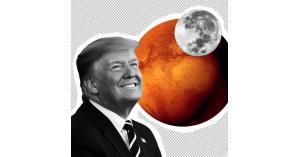 """ترامب لـ """"ناسا"""": القمر جزء من المريخ"""