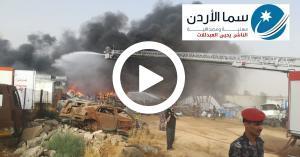 تحويل ٨ من الدفاع المدني إلى المدينة الطبية إثر حريق زيزيا