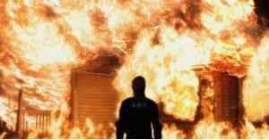 شاب يحرق شقيقته بجرش