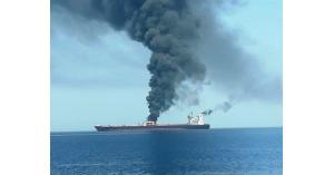القيادة الأمريكية في الخليج تنشر فيديو لتورط إيران بالهجوم على ناقلة النفط اليابانية