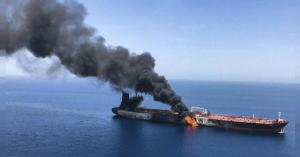 بريطانيا تتهم إيران باستهداف ناقلتي النفط في خليج عُمان