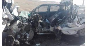 وفيات بحادث تصادم على الطريق الصحراوي