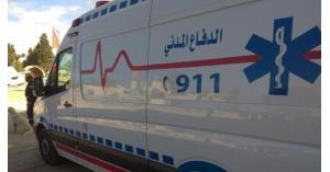 اصابة 4 اشخاص بحادث تدهور مركبة في البلقاء