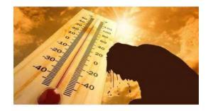 الدفاع المدني يدعو لعدم التعرض للاشعة الشمس