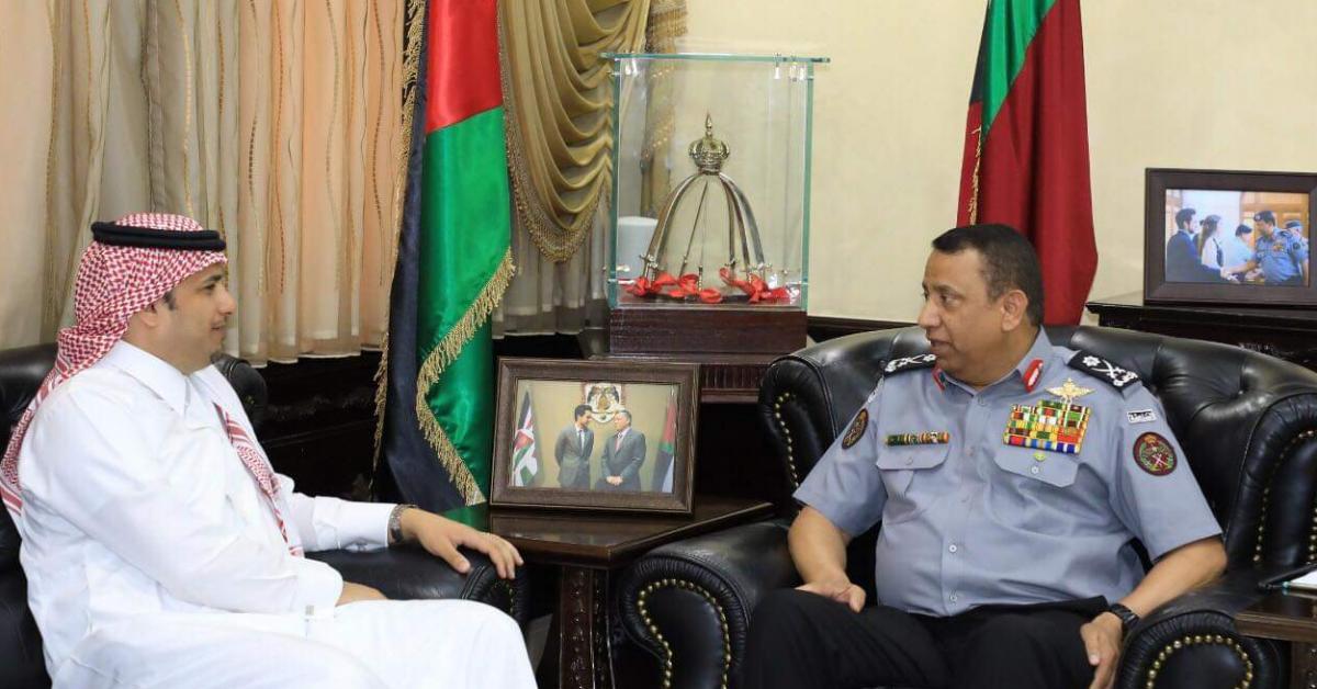 الحواتمة يستقبل رئيس جامعة نايف العربية للعلوم الأمنية