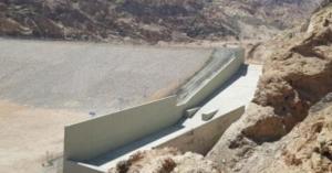 انجاز سد وادي رحمة بسعة نصف مليون م3