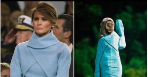 تمثال ميلانيا ترامب يثير عاصفة
