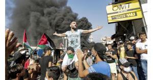 فلسطينيو لبنان يتظاهرون ضد حملة مكافحة العمالة غير الشرعية