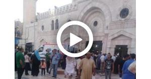 سقوط أحد العاملين على صيانة المسجد الحسيني في عمّان (فيديو)