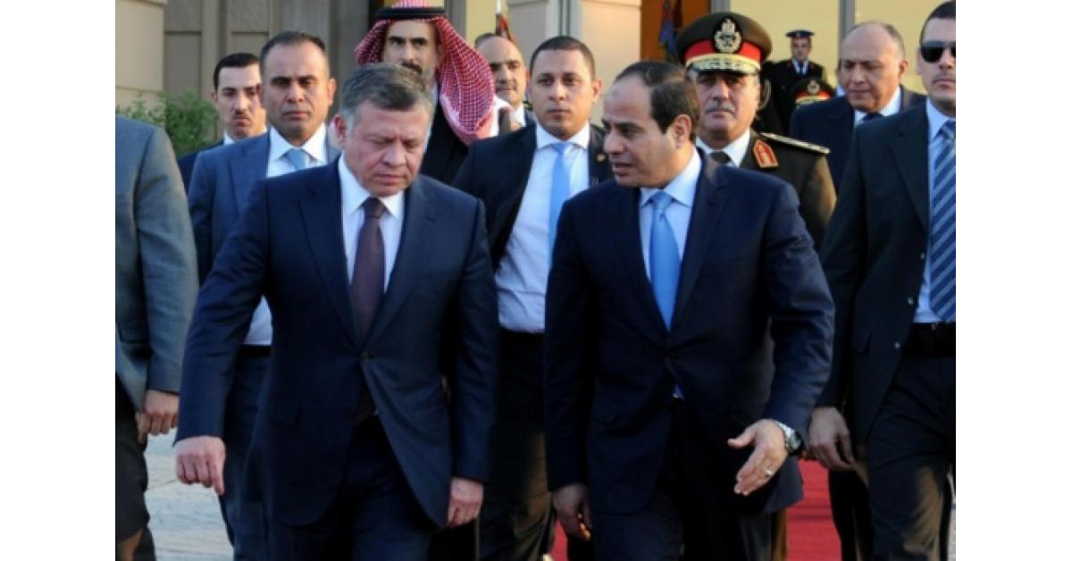 الملك والسيسي يرفضان الممارسات الإسرائيلية