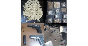 ضبط 17 مروجا ومواد مخدرة واسلحة نارية بحملات امنية في المملكة (صور)