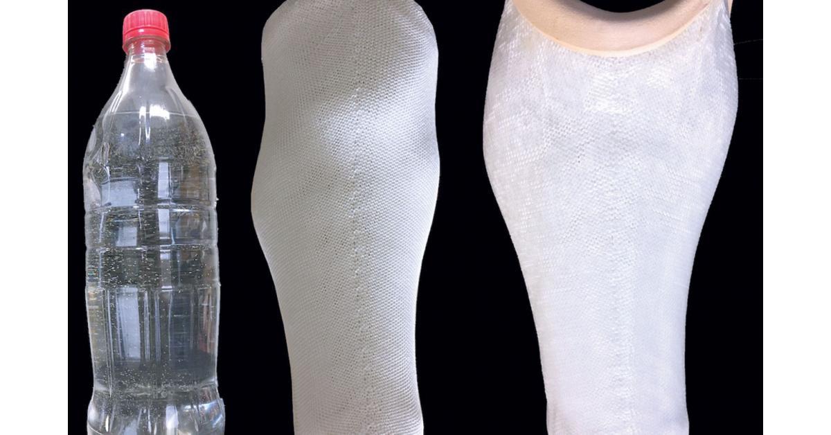 تحويل عبوات بلاستيكية إلى أطراف اصطناعية