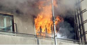 إخماد حريق شقة في منطقة النزهة بالعاصمة