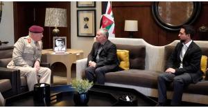 جلالة الملك عبدالله الثاني يستقبل كبير مستشاري وزارة الدفاع البريطانية للشرق الأوسط