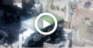 تدهور سيارة براد في جبل النظيف (فيديو)