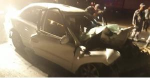 بالصور...وفاة شخص وإصابة اثنين آخرين اثر حادث تصادم في العقبة