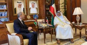 رئيس الوزراء الكويتي يبحث مع الصفدي سبل تطوير العلاقات الاخوية