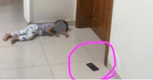 طفل يحتجز والدته 4 ساعات في المطبخ