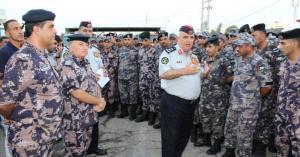 اللواء البزايعة يتفقد مديريتي دفاع مدني الكرك والطفيلة