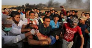 5 جرحى إثر اعتداء الاحتلال على مسيرة العودة في غزة