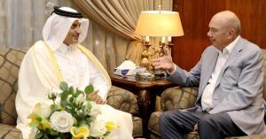 رئيس مجلس الاعيان يستقبل السفير القطري