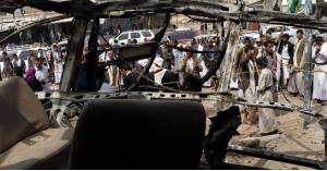 مقتل 5 مدنيين يمنيين بانفجار حافلة قرب الحدود السعودية