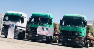 """""""الخيرية الأردنية"""" تسير قافلة مساعدات الى غزة"""