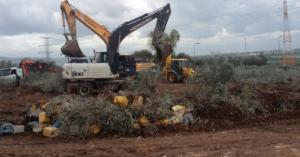 الاحتلال يجرف أراضي زراعية ويهدم منازل في الضفة الغربية