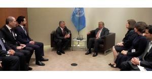 الملك يلتقي الأمين العام للأمم المتحدة في نيويورك