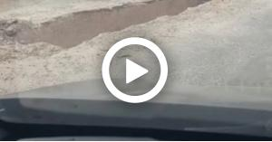 حفره خطيره في شارع البتراء تهدد حياة المواطنين (فيديو)