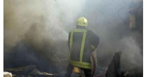 إصابتان بحريق شقة في المدينة الرياضية