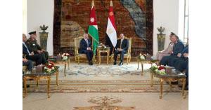 الملك والسيسي يؤكدان على وحدة سوريا
