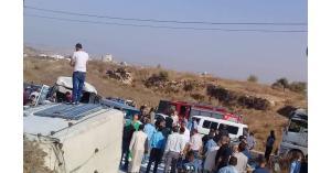 ٢٨ إصابة بحادث في اربد
