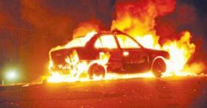 وفاة شخص تفحما اثر احتراق سيارته في عمان