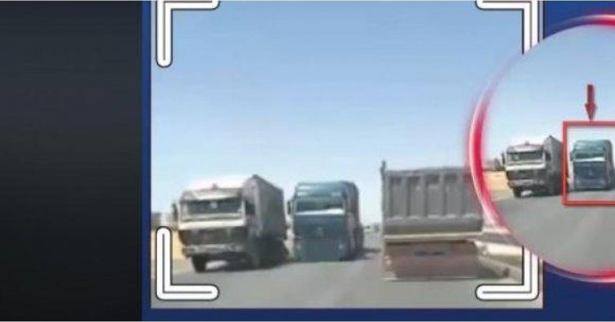 ضبط شاحنة ارتكبت مخالفة كارثية على الصحراوي