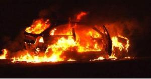 حريق مركبة داخل مستشفى في اربد
