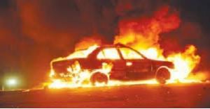 حريق مركبة بمنطقة الجبيهة