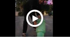 بالفيديو.. مواطن يشتري اسطوانة غاز مملوءة بالماء